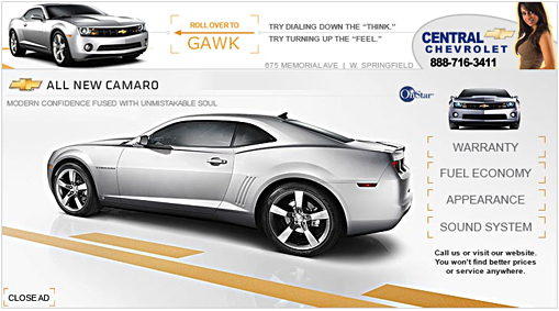 Central Chevy Interactive Ad - 728x90